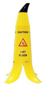 Banana Wet Floor Caution Sign 60cm High (BANANA-60)