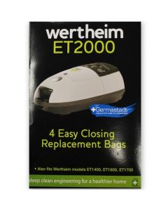 Wertheim ET1400, ET1600, ET1700 and ET2000 Vacuum Cleaner Bags (32420325)