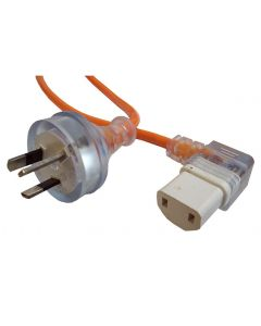 Left Angle IEC Power Cord 15 Metres 7.5 Amp (C-IEC1510-K)