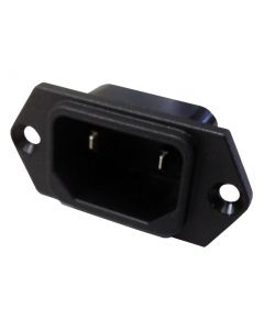 Male 2 Pin IEC Power Socket for Backpack Vacuums (IEC-20203)