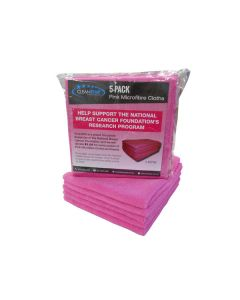Support the National Breast Cancer Foundation, 5 Pack of Pink Microfibre Cloths
