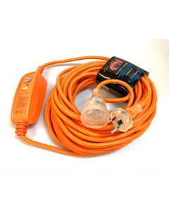 20 Metre Extension Lead 15 Amp with In-Line RCD Safety Switch (VSRCD2015)