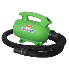 XPOWER B-55 1000 Watt 2-in-1 Home Pet Dryer and Vacuum - Green (B-55-GRN) - Vacuum Spot