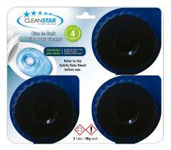 Blue In-Tank Toilet Bowl Cleaner Tablets - 3 Pack (BLUE-3)