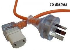 15 Metre Right Angle IEC Vacuum Repair Cord - 2-Core (C-IEC1510RA)