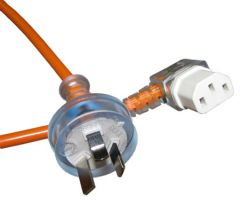 15m 10amp Right Angle IEC Power Lead -  3 Core