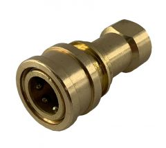 Solution Hose Brass Connector 1/4-inch Female (CON-F)