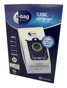 Electrolux, Volta, AEG, Philips and Tornado Classic Long Performance Synthetic Vacuum Cleaner S-Bags (E201S)