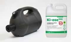 XPOWER F16B Battery Powered Cordless ULV Cold Fogger and Ki-ose 350 Commercial Grade Disinfectant Combo
