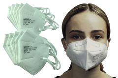 P2/KN95 Disposable Face Masks with Elastic Ear Loops - 10 Pack (MASK10)
