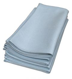 Light Blue Microfibre Cloths for Glass Surfaces 5-Pack (MFGLASS)