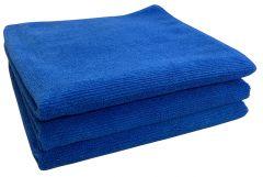 Large Blue Microfibre Cloth Towels - 3 Pack (MFTBLU)