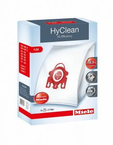 Miele HyClean 3D Efficiency FJM Synthetic Vacuum Cleaner Bags (FJM) box packaging