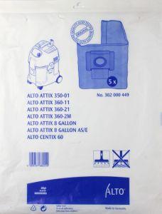 Alto Attix 350-01, 360, 8 Gallon, Centix 60 Bags (302000449)