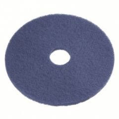 12-inch Blue Wet Scrubbing and Medium Duty Spray Cleaning Pads - 5 Pack (PAD-BLU-12) - Vacuum Spot