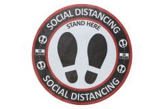 Social Distancing Round Floor Sticker - 30 x 30cm - 10 Pack (SIGN-SD1)