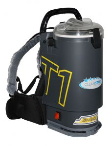 Ghibli T1 Backpack Vacuum Cleaner - Version 3 - Charcoal with Clear Lid (T1v3-CLR)