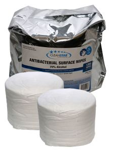 Antibacterial 75% Alcohol Surface Wet Wipes 2-Pack (WIPES-1200)