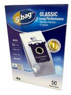 Electrolux, Volta, AEG, Philips and Tornado Classic Long Performance Synthetic Vacuum Cleaner S-Bags (E201B)