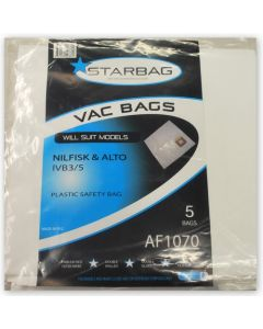 Nilfisk and Alto IVB3 IVB5 Plastic Filter Bags (AF1070)