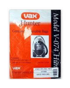 Vax Hunter V-074 Vacuum Cleaner Bags (72920) CLEARANCE STOCK