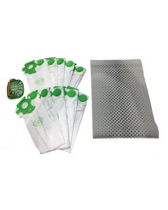 Sebo Dart Series Genuine Vacuum Bags 10-Pack and Filter Kit (7029SKD)