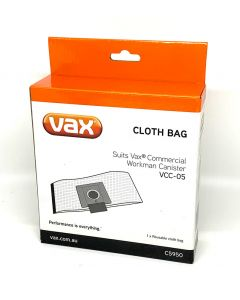 Vax Workman VCC-05 Reuseable Cloth Vacuum Cleaner Bag (C5950)