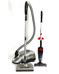 Cleanstar Platinum 2000 Watt Powerhead Vacuum and Stellar 2-in-1 Rechargeable Stickvac Combo