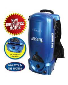 Cleanstar Aerolite Flash 25.2V Battery Powered Backpack Vacuum Cleaner and Blower (VBP-BATT30)