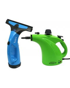 Handheld Steamer and Rechargeable Window Cleaner Combo Pack